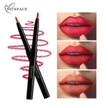 Профессиональный длительное Lip Liner Косметика Водонепроницаемый пигмент сексуальный красный фиолетовый Цвет Контур матовые губы карандаш для макияжа MATAVENI 32914563115