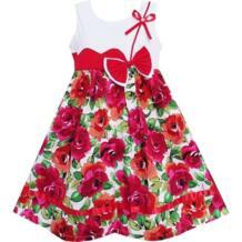 платья для девочек Милый Галстук-бабочка Цветочный Вечеринка День отдыха Sundress Дети Sunny Fashion 32434318820