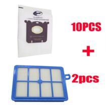 12 шт./компл. Бесплатная доставка 2 Замена HEPA фильтр 10 шт. пыли Сумки для Electrolux Пылесосы для автомобиля Electrolux hepa и S-BAG No name 32862967150