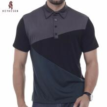 бренд 2018 Модные мужские с лацканами рубашки поло человек короткий рукав тонкий поло Для мужчин XXXL DD02 HEYKESON 32789716457