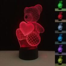 Подарки на день рождения Любовь Медведь светятся в темноте Цвет изменить USB Touch Управление ночь новинка игрушки декоративные дома подарки святого Валентина день No name 32848068474