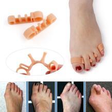 1 пара эластичный корректор-разделитель для пальцев для большого пальца стопы можно ортопедический, облегчающий боль защита для ухода за ногами инструмент для повторного использования LEKGAVD 32995998727