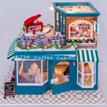 Собрать 3D здание модель DIY мини-красивый дом 3D стерео блоки сборки модели игрушки в день Святого Валентина подарок. No name 32867853994