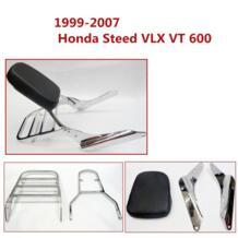 Сзади Чемодан стойки Поддержка спинки Сисси Бар спинки пассажирских спинки сиденья для 1999-2007 Honda Steed VLX VT 600 VT600 2006 No name 32830620380