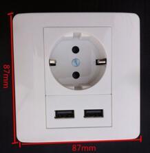Homekit 2100 мАч сенсорный выключатель стены переходник для зарядного устройства ЕС розетка Мощность Кнопка Dual USB порты и разъёмы Outlet панель прерыватель Touch TEUMI 32740704149