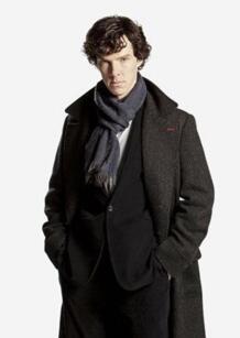 Шерлок Холмс Косплей шарф кашемир утолщение Шерлок Холмс смотрит U Шерлок Шарфы для женщин Обертывания No name 32229541303