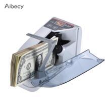 Aibecy Мини Handy счетчик Билл денежных банкнот счетчик обмен счетной машины деньги детектор AC или Батарея питание No name 32862345722