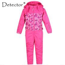 Детский лыжный костюм для девочек, водонепроницаемый ветрозащитный лыжный сноуборд, теплая детская одежда с капюшоном, цельная одежда для маленьких детей-in Лыжные куртки from Спорт и развлечения on Aliexpress.com | Alibaba Group Detector 32835561704