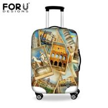 Винтажные эластичные багажа Защитные чехлы для 18-30 дюймов Путешествия троллейбус, толстые Водонепроницаемый пыли чемодан дождевик No name 32563899054