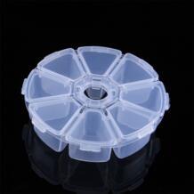 1 шт. 8 слотов коробка для хранения Дело Организатор Дисплей ювелирные изделия из бисера Макияж Ясно Круглый Rangement Макиллаж TOPINCN 32628495612
