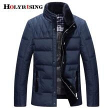 Мужская теплая пуховая куртка зима 90% белый утиный пух Верхняя одежда ветрозащитная Парка мужская зимняя куртка пальто с мехом Мужская парка 18383-5 Holyrising 32880883316