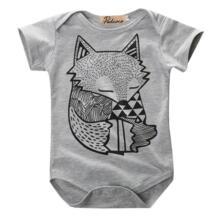 Уникальный Детский комбинезон с принтом серого лисы для новорожденных мальчиков и девочек, комбинезон купальник комплект одежды pudcoco 32800172856