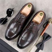 Мужские строгие туфли кожаные туфли-оксфорды для Для мужчин Туалетная Свадебные Для мужчин башмаки офисные туфли на шнуровке мужские zapatos de hombre phenkang 32792921440