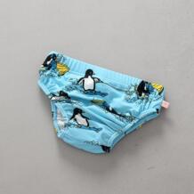 Мини-купальный пляжный купальный костюм, модный детский купальник с рисунком пингвина для маленьких девочек, От 1 до 3 лет, купальный костюм с машинкой для маленьких мальчиков No name 32848723302