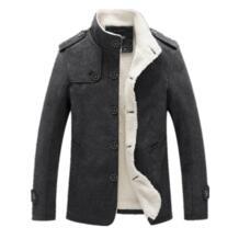 новый для мужчин полушерстяные модная зимняя куртка с флисовой подкладкой толстое пальто мужской шерстяное пальт Bolubao 32822151789