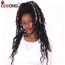 Locs волосы 12/18 дюймов Короткие Nu Locs синтетические волосы для наращивания косы Faux Locs Curly синтетические волосы для женщин черный leeons 32959050455