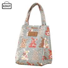 Милые кролики Портативная сумка для еды теплоизолированные сумки-холодильники сохраняющая тепло для еды на пикник сумки для обедов Для женщин детская коробка для завтраков, сумка для груза XZHJT 32820224948