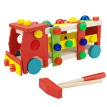 Деревянные завинчивания грузовик Монтессори сборки строительство водитель улучшить интеллект демонтаж автомобиля игрушечные лошадки для детей No name 32882606600