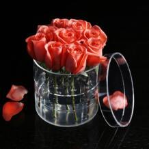 AF акриловая роза цветок дисплей коробка для хранения Макияж Организатор Косметический Держатель цветок Подарочная коробка чехол ко Дню Святого Валентина подарок C217-7 No name 1801807948