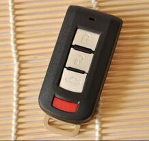 3 + 1 кнопки пустой оболочка для Smart ключа чехол для Mitsubishi Outlander, Lancer EX смарт-карты 4 кнопки No name 32606607328