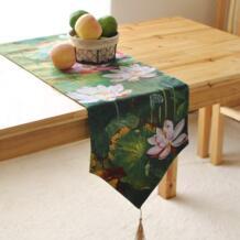 Китайский стиль живописи тушью стиль бегун лотосов свежий кабинет декоративные баннеры Placemats No name 32666069768