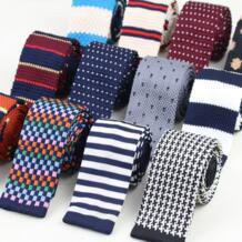 Для Мужчин Вязаные для отдыха полосатые галстуки модные облегающий Узкий Тонкий галстук для Для мужчин тощий сплетенный дизайнерский галстук No.1-20 M Wyatt 32375437734