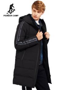 Пионерский лагерь новый стиль толстый зимний пуховик мужская брендовая одежда с капюшоном длинные теплые пуховики с белым утиным пухом мужской качество AYR705109 Pioneer Camp 32833108571