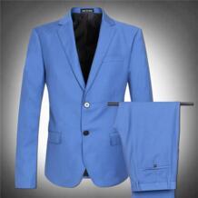 Светло-голубой блейзер мужской костюм куртка Комплект Высокое качество очень большой человек осень плюс размер M-4XL 5XL 6XL 7XL 8XL Mei So Easy 32728561377