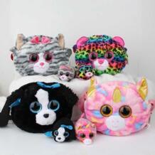 20 см TY Плюшевые игрушки сумки мягкие плюшевые рюкзак животные детские игрушки кошельки портмоне Дети изменить для хранения денег сумка No name 32856420018
