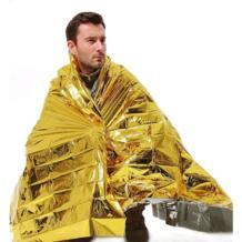 210*160 см аварийное одеяло 1 шт. спасательный занавес для выживания уличная спасательная Водонепроницаемая космическая Фольга Тепловая No name 32302389288