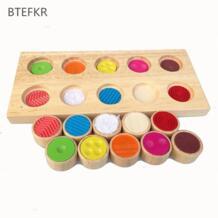 Монтессори деревянный пазл, игрушки памяти обучение тачпад Детские познавательные цвет игрушечные лошадки раннего обучения Детские развивающие No name 32875684993