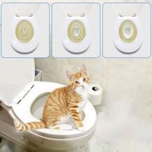 Кошачий лоток набор для обучения домашних животных Китти горшок система поезда шаг за шагом обучение туалетный лоток обучение Туалет товары для домашних животных тренажер TAILUP 33037663808