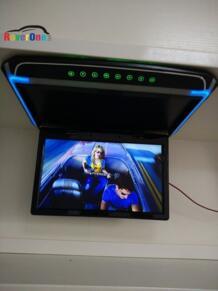 15,6 ''дюймовый HD 1080 P Automotivo автомобиль откидной потолочный TFT ЖК-монитор туристический грузовик транспортный проигрыватель рекламных объявлений HDMI USB SD No name 1953778696
