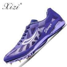 2018 трек шипы обувь для Для мужчин и Для женщин зеленый синий атлетика шипованные ботинки для бега кроссовки легкие унисекс поле обувь XIZI 32906950872