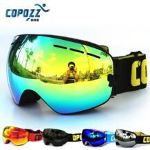 COPOZZ Профессиональный сноуборд Анти-Туман Лыжные очки двойные линзы UV400 большие очки лыжи мужчины женщины сноубордические очки No name 32751410437