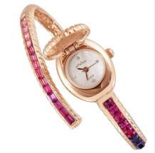 Супер модный флип браслет наручные часы экстравагантные горный хрусталь часы Женское платье часы ультра-тонкий витой Montre Femme F6483 Melissa 32262265128