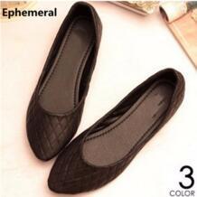 Kvoll/женская повседневная обувь в европейском и американском стиле с острым носком, большие размеры 44, 45, 46 Ephemeral 32627727489