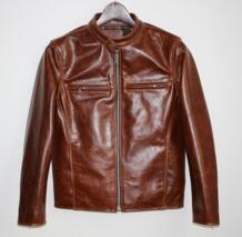 Бесплатная доставка, специальная масляная куртка из воловьей кожи. Супер американский стиль. Куртки из натуральной кожи. Мужская байкерская куртка, верхнее классическое пальто. VANLED 32902017078