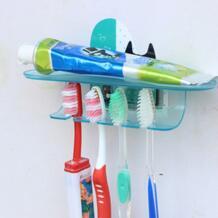 мультфильм 4 позиции Sticky держатель для зубной пасты и щетки ванная комната зуб кисточки стойки для ванной набор настенный держатель для ванной комнаты зубные пасты держатель WCIC 32860913998