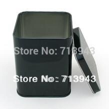 Размеры: 70x70x93 мм/черный чай в жестяной коробке/прямоугольник чай в жестяной коробке/консервной банки могут /квадратную металлическую коробку для упаковки чая/хранения чая консервную No name 1361466603