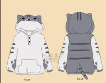 Толстовки с капюшоном для женщин брендовая зимняя уха руки кошка Толстовка пальто фланелевые тренировочные костюмы Xsyyfast 32540390511