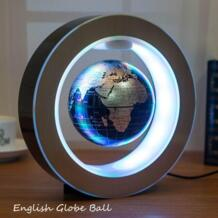 4,0 дюймов США Plug магнитной левитации Глобус Плавающий глобус Карта O Форма светодио дный свет украшения Бизнес с светодио дный теллурий Peradix 32835970902