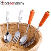 детская керамическая ложка детская посуда для кормления кролика креативная милая посуда в виде животных столовая посуда суп фарфор BalleenShiny 32828020804