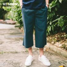 VIISHOW новый летний Для мужчин ботильоны-Длина Штаны свободные дышащие повседневные штаны Синий сапфир Для мужчин Штаны Для мужчин одежда KB1176172 No name 32806905341