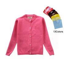 2018 Модное детское пальто-кардиган; свитера для девочек-подростков; яркие цвета; хлопковая однобортная куртка для маленьких девочек; верхняя одежда YUBAOBEI 32820006511