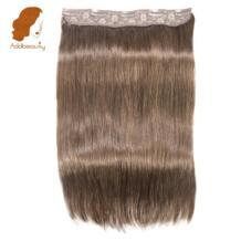 Addbeauty Клип В Пряди человеческих волос для наращивания Прямой полный Начальник Клип В Волосы remy 70 ~ 100 г/шт. 5 клипы в 1 шт. Пряди человеческих волос для наращивания No name 32832760537