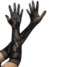 1 пара, распродажа вечерние поступление, сексуальные женские кружевные перчатки, варежки, аксессуары, черные/белые перчатки Favolook 32746802924