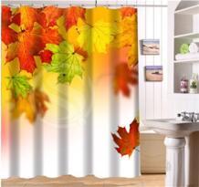 Wjy425y4 пользовательские красивые осенние кленовые листья Ткань Современная душевая Шторы для ванной Водонепроницаемый XY4 shunqian 32669503281