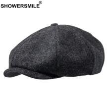 Шерстяная кепка |Мужские кепки-восьмиклинки| | - AliExpress SHOWERSMILE 32912788784