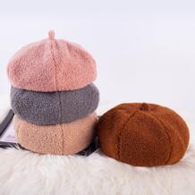 Кашемировые британские береты женская арт восьмиугольная шляпа модная женская винтажная Коралловая бархатная плоская остроконечная Кепка шляпа ретро британская шляпка-in Мужская газетчик шапки from Аксессуары для одежды on AliExpress XCZJ 4000102181527